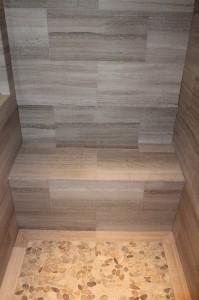 limestone shower bench