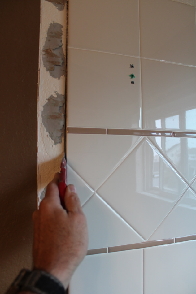 Cutting Out Existing Drywall