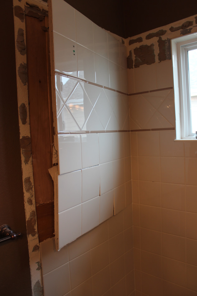 How to remove tiled shower walls Bathroom tile showers