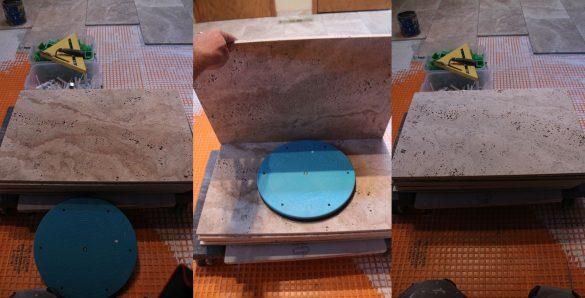Backbuttering Tile